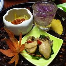 *夕食一例/お料理からも季節を感じて頂ける様工夫をしています。