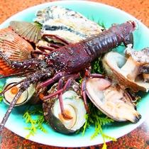 【採れたて♪】伊勢海老と新鮮な貝の盛り合わせ【夏季】