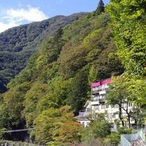 らんりょうと浅間山10月21日の紅葉