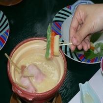 新鮮夏野菜の古湯フォンデュ