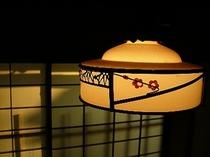 茶室の灯り