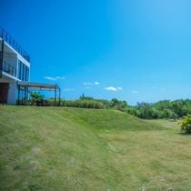 緑豊かな敷地