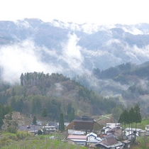 *【周辺風景】小川村の風景。刻々と変わる景色は幻想的でもあります。
