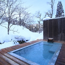 野天風呂 冬景色