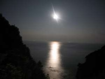 満月の夜のムーンロード