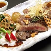*栃木県産の牛ステーキ