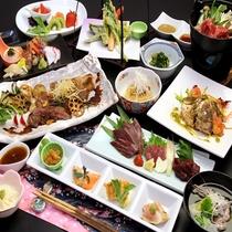 *宿自慢の創作料理に会津名物の馬刺しと栃木県産牛のステーキを付けた豪華、満腹プラン♪