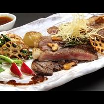 栃木県産の牛ステーキ