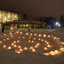 r【冬】中島公園の雪あかり