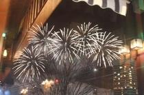 Scenery・冬の湯沢運がよければ土曜日に花火が上がります。
