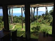 1階体験館窓からの景色