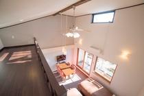 全室ロフト&天井扇付きのお部屋。