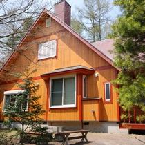 *4~6名用Iタイプ_外観/ハイグレードな林間の平屋、一戸建て・庭付き(2LDK+ベランダ)77平米