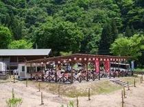 BBQ「荒島」☆ 山の中のBBQは空気もおいしくてさらにおいしく感じます♪
