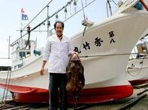 秀竹丸で漁に出ます