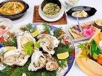 牡蠣コース料理