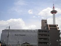 ヨドバシカメラと京都タワー