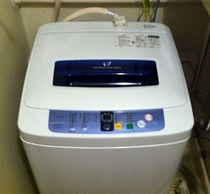全室に洗濯機を完備しております(機種は部屋により異なります)