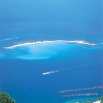 敦賀半島の先端近くに浮かぶ小さな島 水島(車で約85分・渡し船約10分)