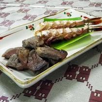 *【夕食一例】牛とエビの焼き物