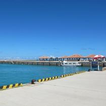 *【竹富港】港から当館までは徒歩15分。ご連絡いただければ送迎もいたします。