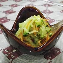 *【夕食一例】なーべらーの和え物