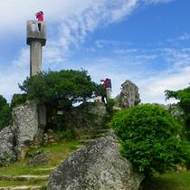 *【なごみの塔】当館より徒歩3分。島で唯一の高層建築物で、ここに登れば島内を一望できます。