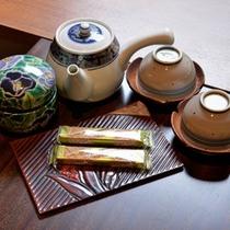 *ご到着後、まずは美味しいお茶と和菓子でホッとひと息。