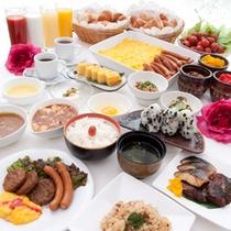 35種類の朝食バイキング
