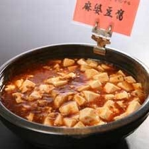 マーボー豆腐。ピリっと辛い味付けが食欲をそそります。
