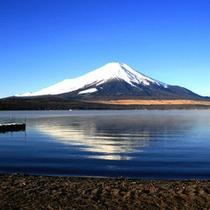 *山中湖から眺める富士山