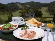 絶景の中での朝食