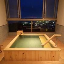 【温泉展望風呂付和洋室】ツイン+8畳(トイレ付)檜タイプ