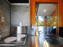 【キッチン】電気コンロの使い勝手の良いキッチンです