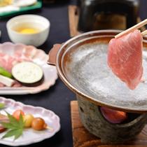 *【夕食一例】鉄板焼(豚) アツアツをどうぞ!