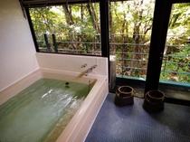 人工温泉のお風呂
