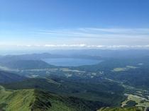 秋田駒ヶ岳(男岳山頂)より田沢湖を望む