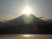 冬・ダイヤモンド富士