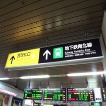 JR札幌駅西改札を出ます。⇒⇒⇒