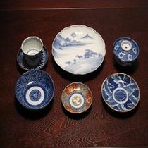 室内備品の数々‐明治期の印判技法による骨董食器‐
