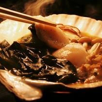 *夕食一例 帆立貝鍋
