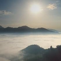 <雲海>標高513mの国見ヶ丘から見られる景色。