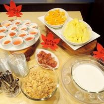 *【朝食バイキング一例】郷土食材たっぷりの朝食バイキング