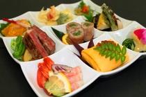 彩レディースプレート(料理一例)