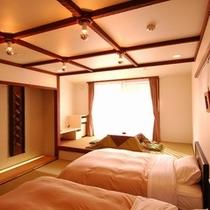 木の花(このはな)2階のモダン和洋室・12畳・バスなしのお部屋です。