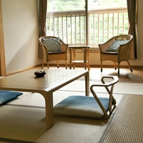 初名草(ははつなぐさ) 女性に人気のお部屋です。2階の和室8畳+広縁4畳。