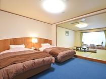 【新館和洋室】8畳和室とツインベッドルーム