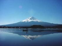 お部屋からの逆さ富士山