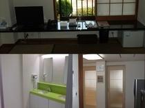 客室(冷蔵庫、内線電話、ランケーブル、液晶テレビ、消臭剤)