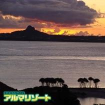 伊江島の夕焼け